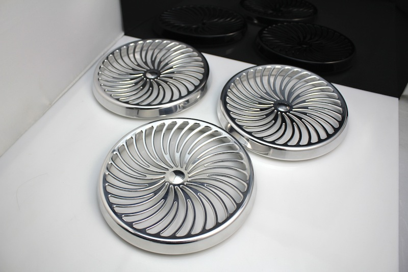 High polished aluminium buttons – CNC machined