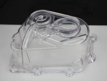 PC clear housing – Vapor polished